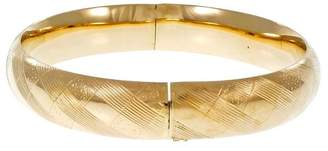 14K Yellow Gold Hinged Domed Bangle Bracelet