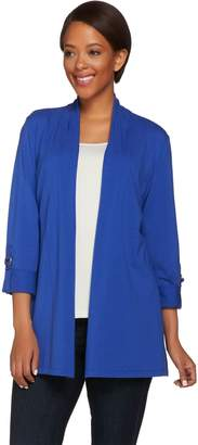 Susan Graver Weekend Cotton Modal 3/4 Sleeve Cardigan