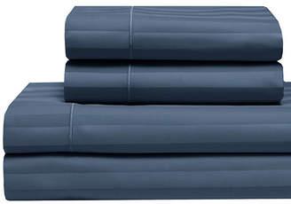 Cooling Cotton Satin Stripe Full Sheet Set Bedding