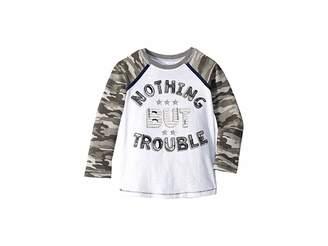 Mud Pie Trouble Camo Long Sleeve Raglan T-Shirt (Infant/Toddler)