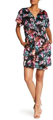 Bobeau B Collection by Aniyah Surplice V-Neck Floral Print Woven Dress