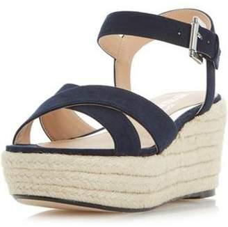 Dorothy Perkins Womens *Head Over Heels by Dune 'Kyli' Navy Wedge Sandals