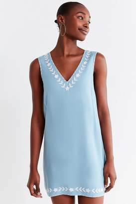 Urban Outfitters Valencia Embroidered Shift Dress