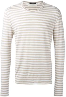 Roberto Collina long sleeve striped T-shirt