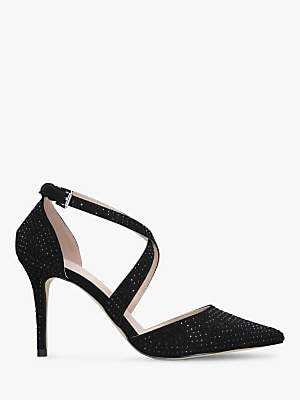f07ac87402a Carvela Cross Strap Stud Embellished Stiletto Heel Court Shoes