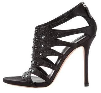 Gucci Embellished Caged Sandals