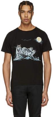 Saint Laurent Black Wolf Pack T-Shirt
