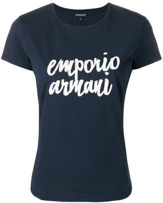 Emporio Armani embellished logo T-shirt