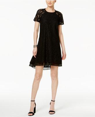RACHEL Rachel Roy High-Low Lace Trapeze Dress $129 thestylecure.com