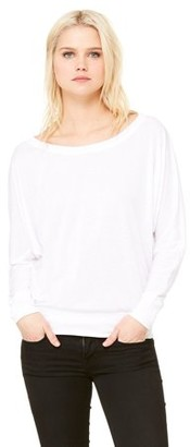 Clementine Apparel Women's Flowy Long-Sleeve Off Shoulder T-Shirt