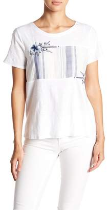 Vince Camuto Embroidered Stripe Tee