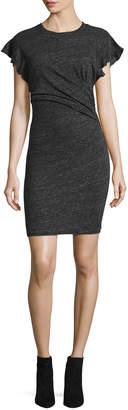 IRO Nanton Cap-Sleeve Fitted Jersey Dress