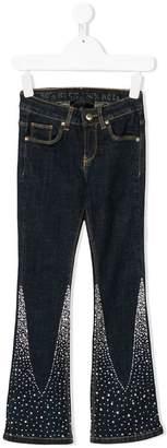 John Richmond Kids gem studded flared jeans