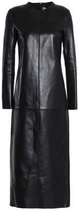Valentino Leather Midi Dress