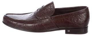 Louis Vuitton Crocodile Penny Loafers