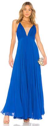 Jill Stuart Crinkle Chiffon Gown