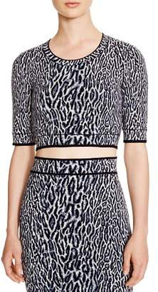 BCBGMAXAZRIA Isabelie Cheetah Jacquard Crop Top - 100% Exclusive