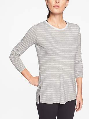 Athleta Threadlight Stripe Layering Long Sleeve