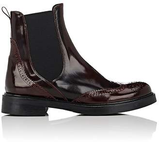 Barneys New York Women's Spazzolato Leather Wingtip Chelsea Boots