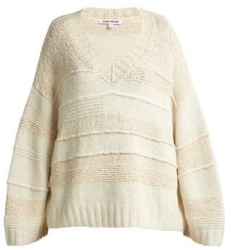 Elizabeth And James - Torry V Neck Cashmere Blend Sweater - Womens - Cream