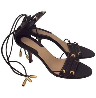 Donna Karan Black Leather Heels