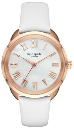 Kate Spade Kate Spade New York Bow Crosstown Analog Leather Strap watch