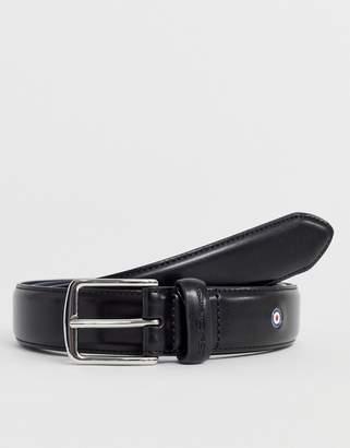 Ben Sherman smart skinny belt in black