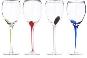 Splash Wine Glasses -Set of 4 $35 thestylecure.com