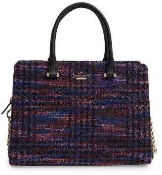 Kate Spade New York Emerson Place Olivera Tweed Satchel - None $428 thestylecure.com