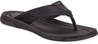 Kenneth Cole Men's Yard Leather Thong Sandals Black