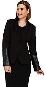 G.I.L.I. got it love it G.I.L.I. Faux Leather Trim Blazer