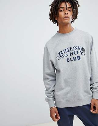 Billionaire Boys Club sweatshirt with embroidered logo in grey