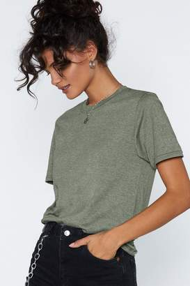 Nasty Gal Drawing a Blank Oversized Tee