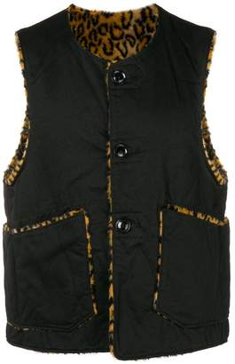 Engineered Garments reversible buttoned vest