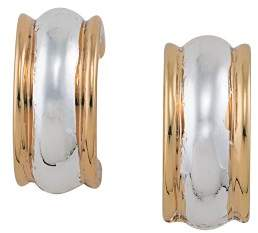 Ralph Lauren Two Tone Clip-On Hoop Earrings