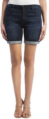 Liverpool Corine Cuffed Denim Shorts in Vintage Super Dark