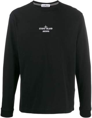 logo long-sleeve top