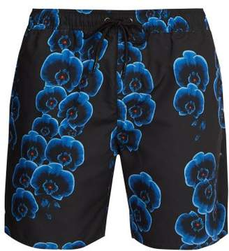 Saturdays NYC Timothy Orchid Print Swim Shorts - Mens - Black