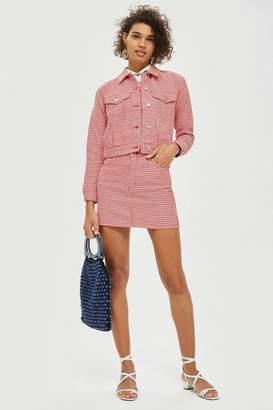 Topshop MOTO Dogstooth Skirt