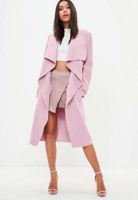Missguided Pink Oversized Waterfall Duster Jacket