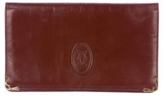 Cartier Vintage Monogram Leather Clutch