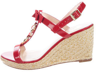Kate SpadeKate Spade New York Patent Leather Wedge Sandals