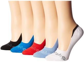 Steve Madden 5-Pack Americana Footie Women's Crew Cut Socks Shoes