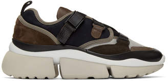 Chloé Navy and Brown Sonnie Sneakers