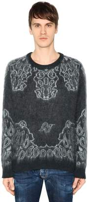 DSQUARED2 Brushed Mohair & Wool Jacquard Sweater