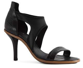 Reiss Women's Camille Snakeskin-Embossed Leather & Neoprene High-Heel Sandals