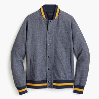 J.Crew Raglan-sleeved varsity jacket in tweed fleece