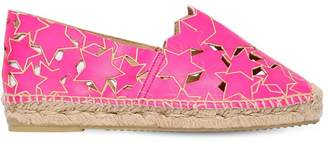 Stella McCartney Stars Faux Leather Espadrilles