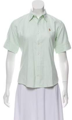 Ralph Lauren Short Sleeve Button-Up Top