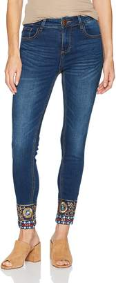 Desigual Women's Exotic Papping Woman Denim Ankle Trouser